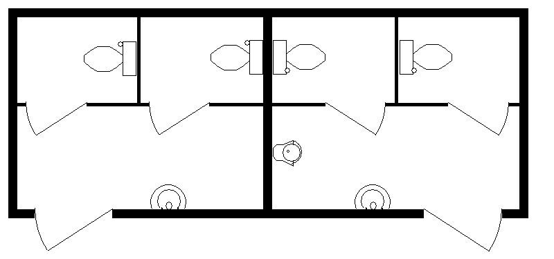 6м Туалет М+Ж 6000х2420х2590мм