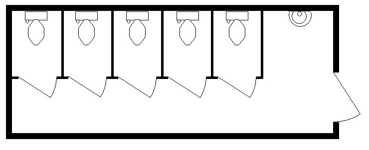 6м Туалет МЖ 6000х2420х2590мм