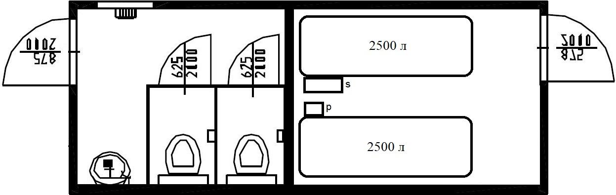 Планировка-туалетный-автономный-блок-контейнер-сантехнический
