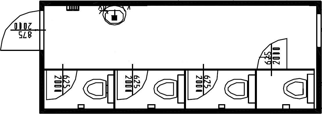 планировка стандартного туалета
