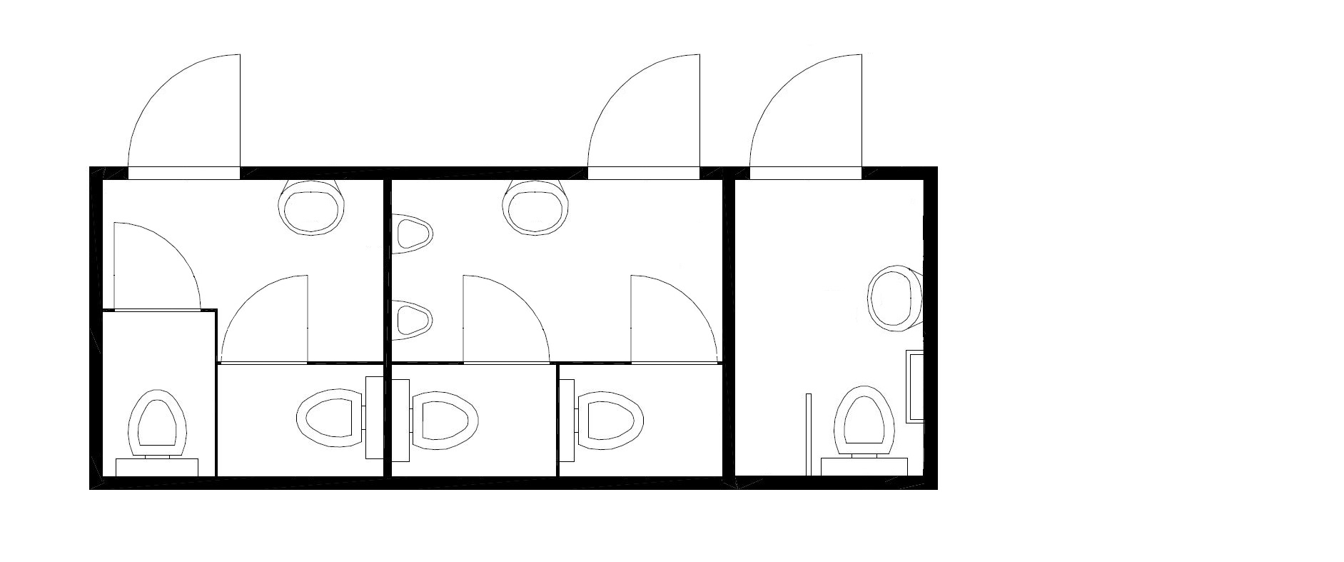 планировка модульного туалета 2м2ж+мгн