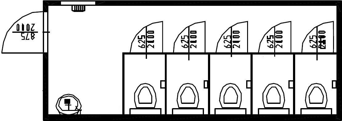 планировка модульного туалета