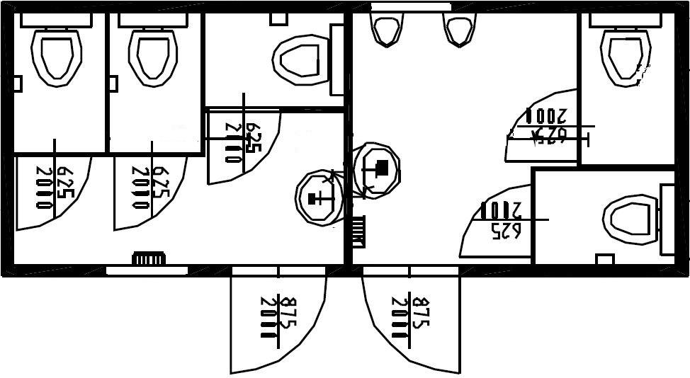 планировка туалетного модуля