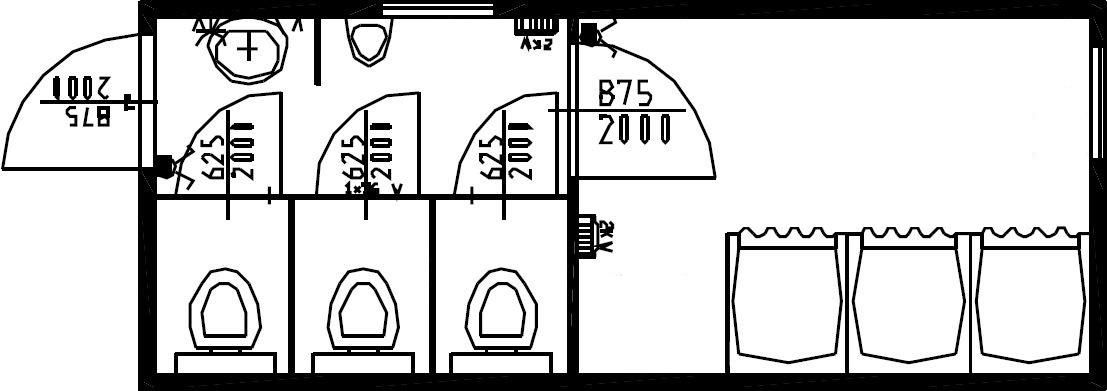 планировка стандартного комбинированного модуля