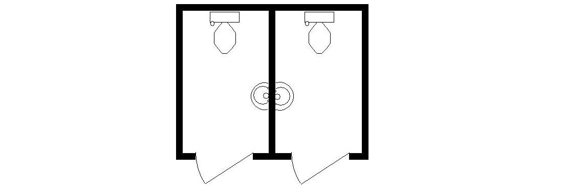 3м Туалет М+Ж 3000х2420х2590мм