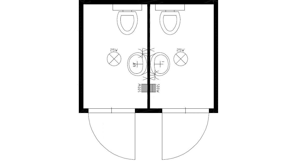 планировка 3метра М+Ж-2