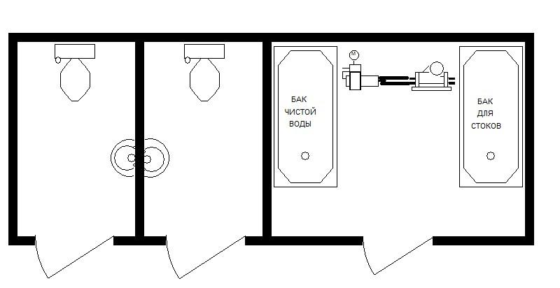 6м Туалет М+Ж автономный 6000х2420х2590мм